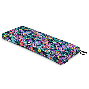 Vera Bradley by Classic Accessories Outdoor Patio Bench Cushion, Happy Blooms, large