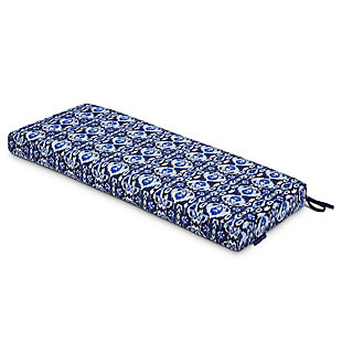 Classic Accessories Outdoor Patio Bench Cushion, Ikat Island, rollover