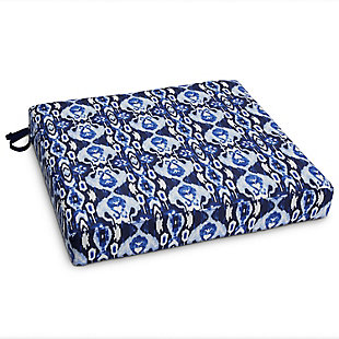 Vera Bradley by Classic Accessories Outdoor Patio Seat Cushion, Ikat Island, large