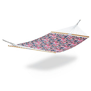 Classic Accessories Outdoor Quilted Hammock, Rain Forest Canopy Coral, rollover