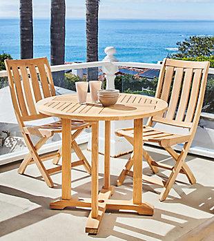 HiTeak Cambria Outdoor Folding Chair, , rollover