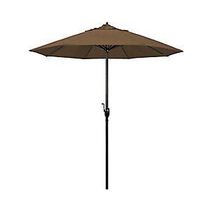 California Umbrella Casa Series 7.5' Outdoor Patio Umbrella With Auto Tilt Crank Lift, Sesame, large