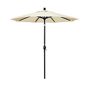 California Umbrella Pacific Trail Series 7.5' Outdoor Patio Umbrella With Push Button Tilt Crank Lift, Canvas, large