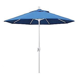 California Umbrella Pacific Trail Series 9' Outdoor Patio Umbrella With Push Button Tilt Crank Lift, Capri, rollover