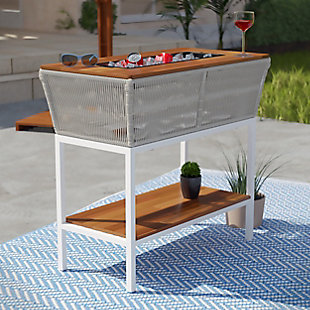 Southern Enterprises Halley Outdoor Serving Table with Storage, , rollover