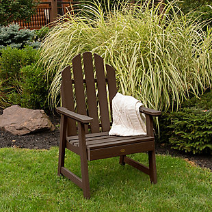 Highwood Weatherly Garden Chairs, Weathered Acorn, rollover