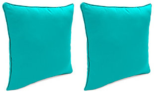 """Home Accents 17"""" x 17"""" Outdoor Sunbrella® Pillow (Set of 2), , large"""