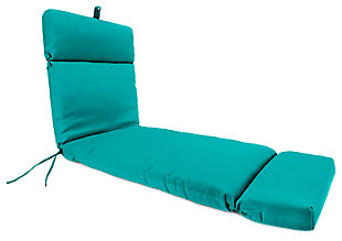"Home Accents 22"" x 73"" French Edge Chase Lounge with Ties, Teal, large"