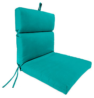"Home Accents 22"" x 44"" French Edge Chair, Teal, large"