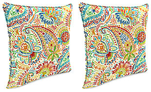 "Home Accents 24"" x 24"" Outdoor Pillow (Set of 2), Multi, rollover"