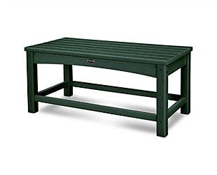 POLYWOOD Club Coffee Table, Green, large