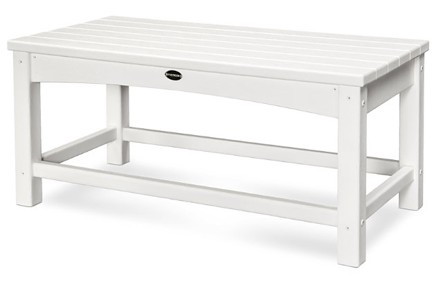 POLYWOOD Club Coffee Table, White, large