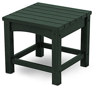 "POLYWOOD Club 18"" End Table, Green, large"
