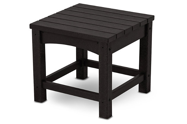 "POLYWOOD Club 18"" End Table, Black, large"