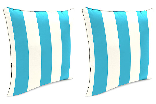 """Home Accents 20"""" x 20"""" Outdoor Pillow (Set of 2), , large"""