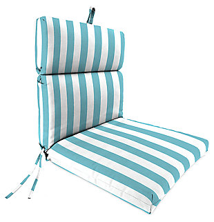 "Home Accents 22"" x 44"" French Edge Chair, Turquoise/White, large"
