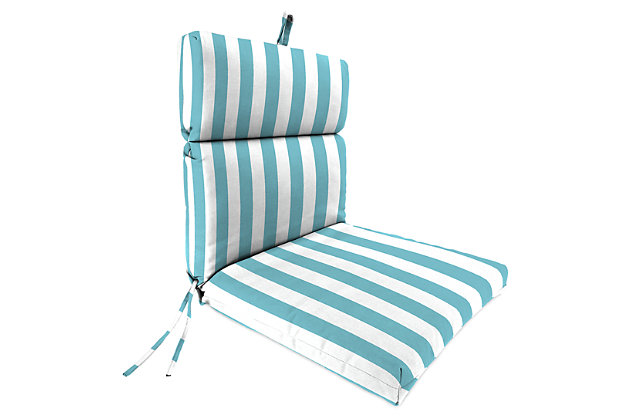 """Home Accents 22"""" x 44"""" French Edge Chair, Turquoise/White, large"""