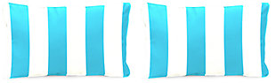 "Home Accents 20"" x 13"" Outdoor Pillow (Set of 2), Turquoise/White, rollover"
