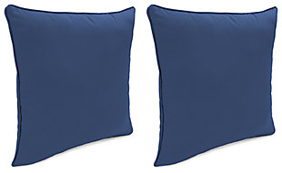 "Home Accents 17"" x 17"" Outdoor Sunbrella® Pillow (Set of 2), Navy, large"