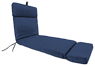 "Home Accents 22"" x 73"" French Edge Chase Lounge with Ties, Navy, large"