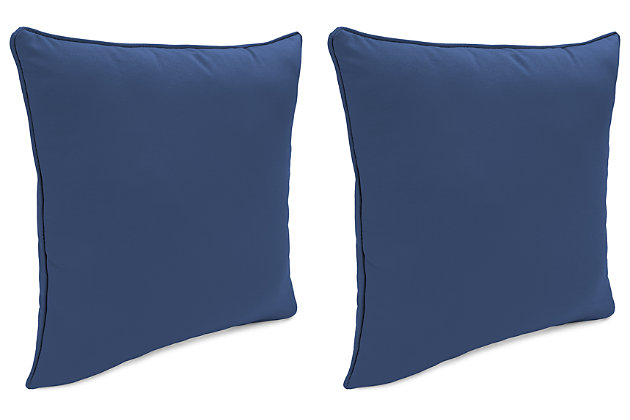 "Home Accents 20"" x 20"" Outdoor Sunbrella® Pillow (Set of 2), Navy, large"