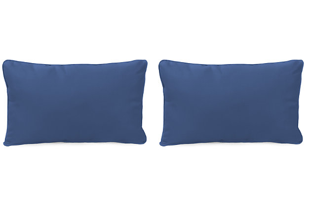 "Home Accents 20"" x 13"" Outdoor Sunbrella® Pillow (Set of 2), Navy, large"