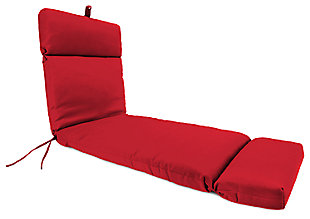 "Home Accents 22"" x 73"" French Edge Chase Lounge with Ties, Red, rollover"
