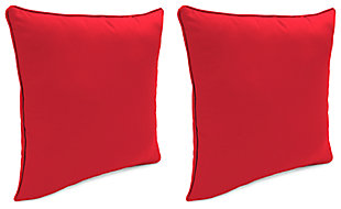 "Home Accents 20"" x 20"" Outdoor Sunbrella® Pillow (Set of 2), Red, large"