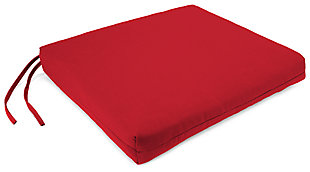 "Home Accents 23.5"" x 19"" French Edge Seat Cushion, Red, rollover"