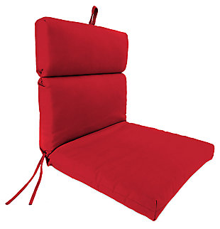 "Home Accents 22"" x 44"" French Edge Chair, Red, rollover"