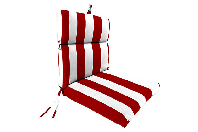 "Home Accents 22"" x 44"" French Edge Chair, Red/White, large"