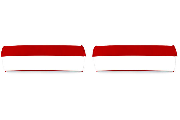 "Home Accents 20"" x 7"" Bolster Outdoor Pillow (Set of 2), Red/White, large"