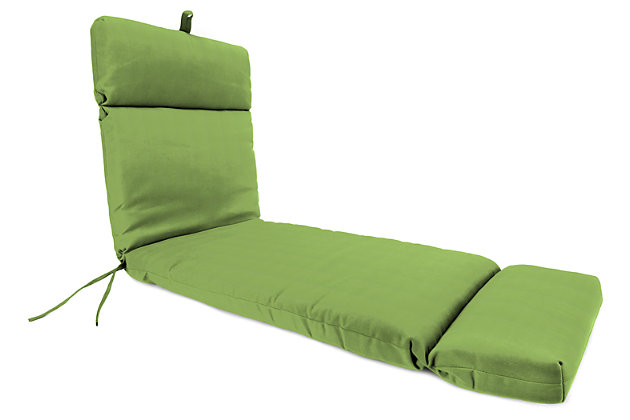 "Home Accents 22"" x 73"" French Edge Chase Lounge with Ties, Green, large"