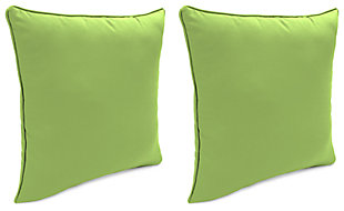 "Home Accents 20"" x 20"" Outdoor Sunbrella® Pillow (Set of 2), Green, large"