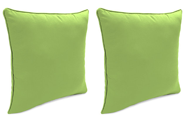 "Home Accents 24"" x 24"" Outdoor Sunbrella® Pillow (Set of 2), Green, large"