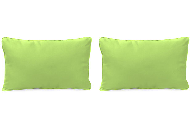 "Home Accents 20"" x 13"" Outdoor Sunbrella® Pillow (Set of 2), Green, large"