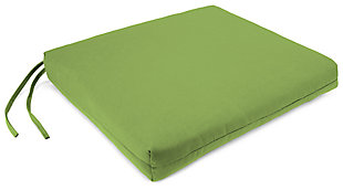 "Home Accents 19"" x 18"" French Edge Seat Cushion, Green, large"
