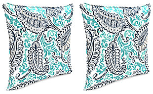 "Home Accents 17"" x 17"" Outdoor Pillow (Set of 2), Multi, large"