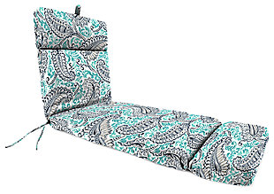 "Home Accents 22"" x 73"" French Edge Chase Lounge with Ties, Multi, large"