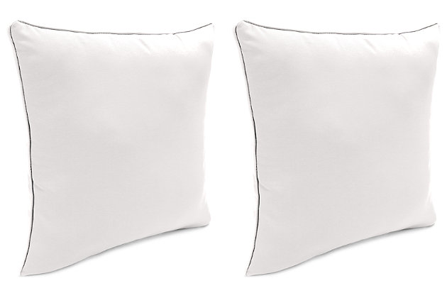 "Home Accents 17"" x 17"" Outdoor Sunbrella® Pillow (Set of 2), Natural, large"