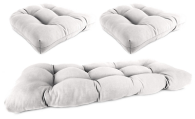 Ashley Home Accents Wicker Tufted Cushion Set (Set of 3),...