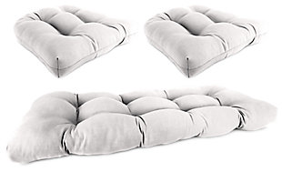 Home Accents Wicker Tufted Cushion Set (Set of 3), Natural, rollover