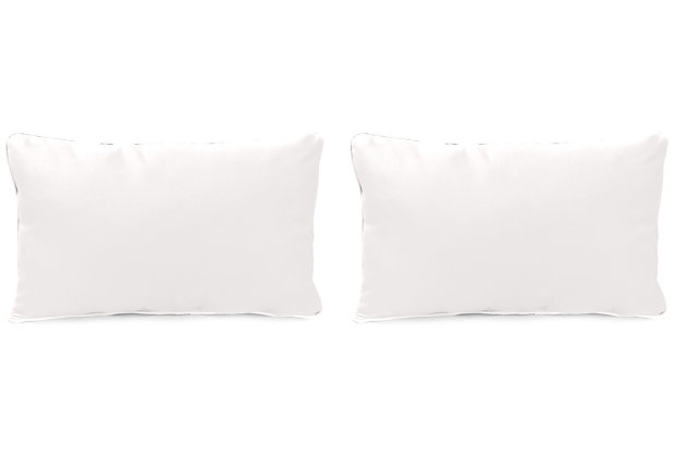 """Home Accents 20"""" x 13"""" Outdoor Sunbrella® Pillow (Set of 2), Natural, large"""