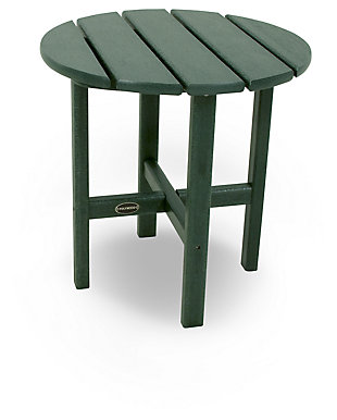 "POLYWOOD Round 18"" Side Table, Green, large"