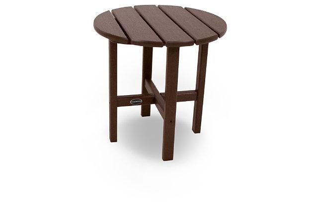 """POLYWOOD Round 18"""" Side Table, Mahogany, large"""