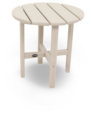 "POLYWOOD Round 18"" Side Table, Sand, large"