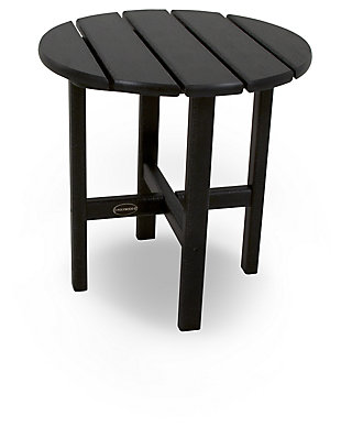 "POLYWOOD Round 18"" Side Table, Black, large"