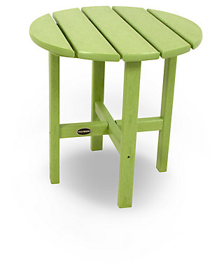 "POLYWOOD Round 18"" Side Table, Lime, large"