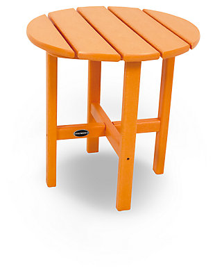 "POLYWOOD Round 18"" Side Table, Tangerine, rollover"