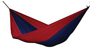 Patio Double Parachute Hammock, Navy/Red, large